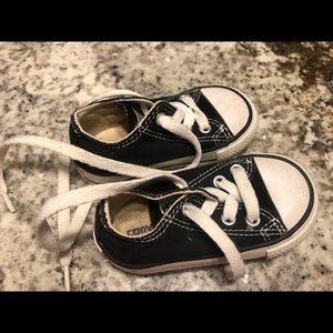 Black Converse Tennis Shoes Baby/Toddler Size 4